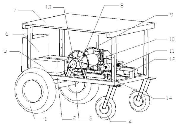 太阳能电机驱动牵引车结构示意图